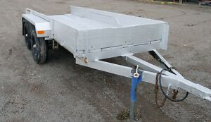 12' Heavy duty utility trailer, 2 axles w/ electric brake