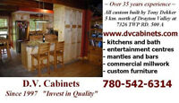 D.V. Cabinets (kitchens and bath, wall systems, wall beds, etc.)