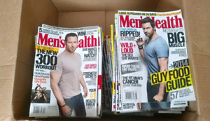 Mens Health, fitness magazines, count of 85