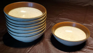 Denby Langley Russet Pattern Dessert / Oatmeal Bowls, Set of 8