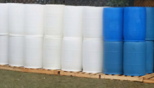 Plastic barrels 55 gallon