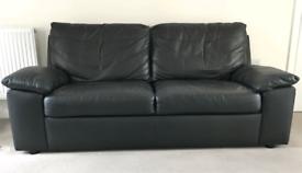 Black Argos two seater sofa. Good condition.