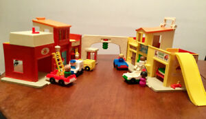Fischer Price 's Little Village...where the action is.