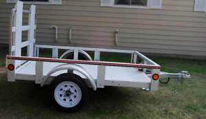 "Stirling 4'1"" x 6' Galvanized Steel Utility Trailer As New 6 mon"
