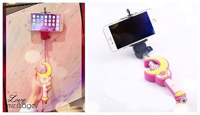 Sailor Moon Selfie Autodyne Pole With Remote Handheld Video Phone Camera Holder