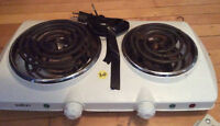 Portable electric stove top for indoors or camping