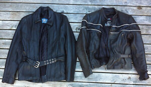 Bomber style and Hip length  ladies motorcycle jackets