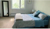 Master bedroom furnished nicely  located downtown all in