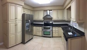 Used Glazed Kitchen Cabinets, Countertop, Sink, Faucet