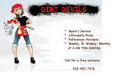 DIRT DEVILS COMPLETE CLEANING SERVICE