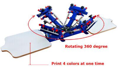Enhanced 4 Color 2 Station Desktop Single Color Screen Printing Machine Us