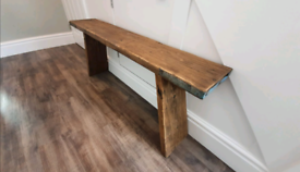 Handmade Wooden Scaffold Bench