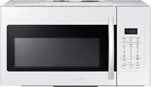 White Over-The-Range Samsung 1.8 Cu.Ft Microwave ME18H704SFW