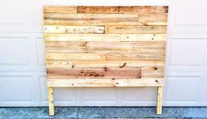 Pallet headboard, rustic wooden headboard, reclaimed wood
