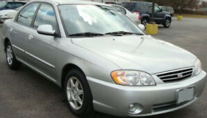 2003 Silver Kia Spectra Sedan Limited - Rare 5spd Low Kms