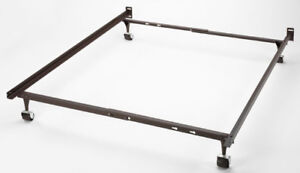 Queen metal bed frame + box spring(Need it gone asap) $70 OBO