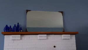 Heavy bevelled glass mirror