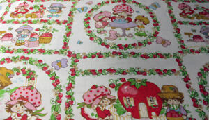 Strawberry Shortcake Twin Bed Sheet Vintage 1980 GREAT Condition