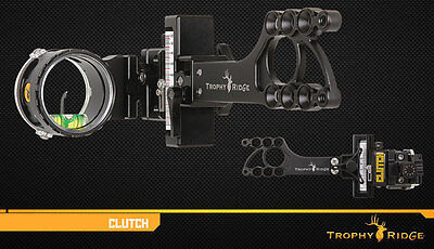New Trophy Ridge Clutch Single (.019) Pin Bow Sight Right Hand Black AS601R19