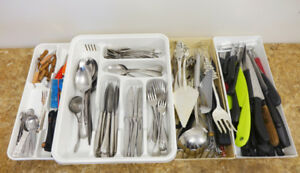 Tableware and Assorted Kitchen Knives and Tools
