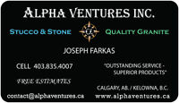 Stucco & Stone Exterior Experts!!  Top Rated Referrals.