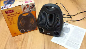HEATER FAN WITH THERMOSTAT, 750 AND 1500 WATT