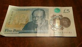 £5 note AA36