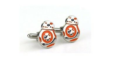 BB_8  Star Wars  CUFFLINKS  SHIRT WEDDING BESTMAN  GROOM  FATHERS   DADDY SON UK