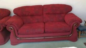 Sofa / settee and armchairs, 3 piece suite
