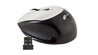Logisys 3-Button Wireless Notebook Optical Scroll Mouse w/Tilt Wheel (BLK/SLVR)