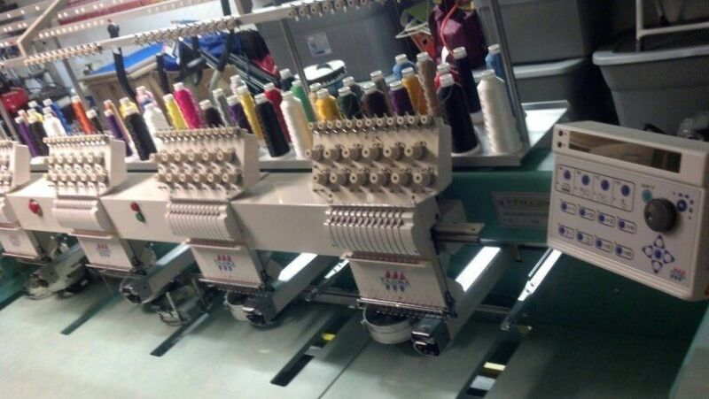Tajima Commercial 4 head Embroidery Machine - TMFXII-C1204 T-shirt Maker Fabric