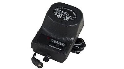NEW GE 83606 Universal AC/DC Adapter & Battery Eliminator w/6 Power Tips -Canada
