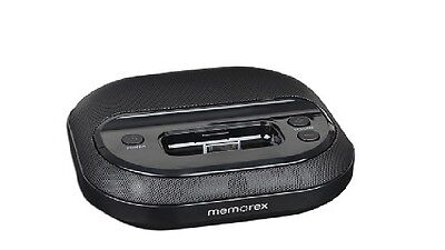 Memorex - Compact Player/Speaker System w/Dock Connector for iPod & iPhone - BLK
