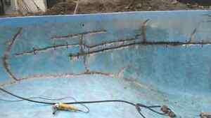 R paration fissure piscine b ton services dans qu bec for Reparation fissure piscine beton