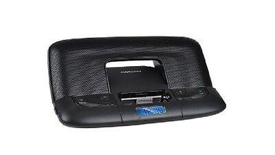 Memorex Foldable Player/Clock Speaker System w/Case & Dock for iPod/iPhone - BLK