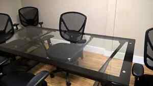 Boardroom table and 4 office chairs