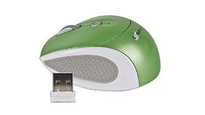 Logisys 3-Button Wireless Notebook Optical Scroll Mouse w/Tilt Wheel (GREEN/WHT)