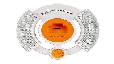 Multimedia Player/Speaker System w/3.5mm Jack/USB & Dock for iPod -WHT/SLVR/ORNG
