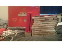Red wii bundle with games rare