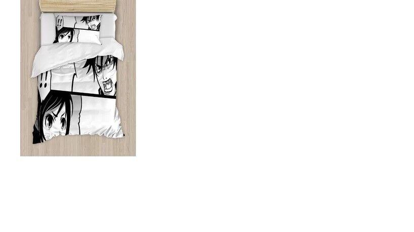 art duvet cover set queen anime japanese