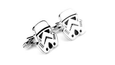 Star Wars Cufflinks STORMTROOPER Cuff links WEDDING GROOM BESTMAN FORMAL WEAR UK