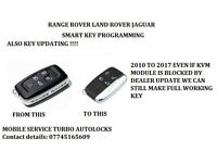 RANGE ROVER LAND ROVER JAGUAR SMART KEY PROGRAMMING WITH BLOCKED KVM MODULE FAST RELIABLE SERVICE