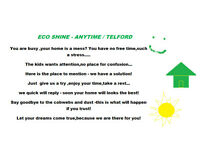 ECO SHINE ANYTIME TELFORD -DOMESTIC CLEANING SERVICE WITH SPECIAL DUST COLLECTOR AND AIR PURIFYING !