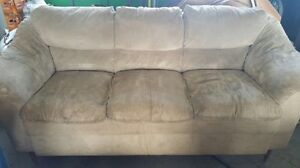 Microfibre beige couch