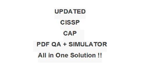 ISC2 Certified Authorization Professional CAP Test Exam QA PDF&Simulator