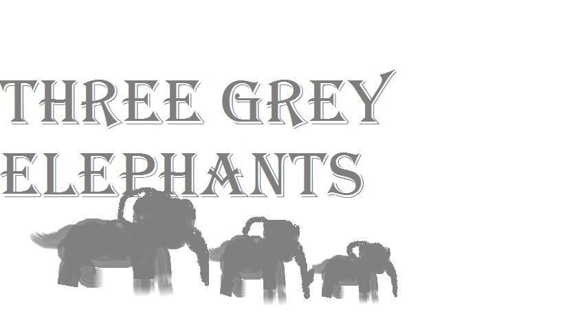 Three Grey Elephants