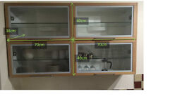 Second-Hand Kitchen wall unit with flap glass door