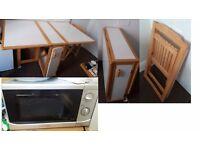 Table(£25) - Microwave (£25)