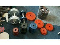 Cast Iron Weights set