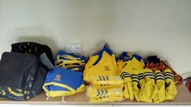 Football Kit for Youth Team (shirts, shorts, socks and goalkeeper jersey for 12)